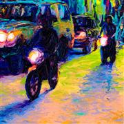 Discover Original Art by Iris Scott | Dos Motos oil painting | Art for Sale Online at UGallery