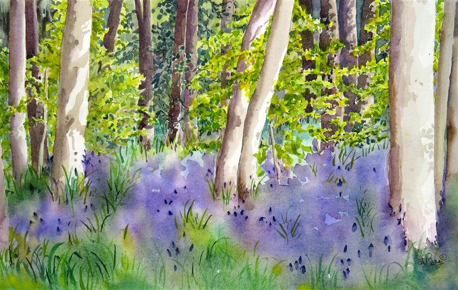 Discover Original Art by Nancy Muren | Bush Park Floral watercolor painting | Art for Sale Online at UGallery