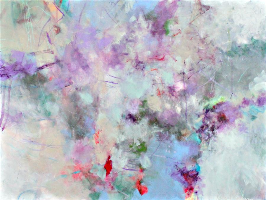 Original art for sale at UGallery.com | Lilacs and Dew by KERRI  BLACKMAN | $1,275 | Acrylic painting | 30' h x 40' w | http://www.ugallery.com/acrylic-painting-lilacs-and-dew