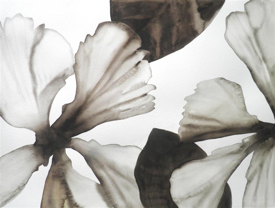 Original art for sale at UGallery.com | Hibiscus 1 by CATHE HENDRICK | $800 | Watercolor painting | 22' h x 30' w | http://www.ugallery.com/watercolor-painting-hibiscus-1