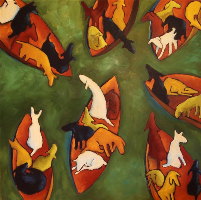 Original art for sale at UGallery.com | Adrift by JAIME ELLSWORTH | $5,375 | Oil painting | 48' h x 48' w | http://www.ugallery.com/oil-painting-adrift
