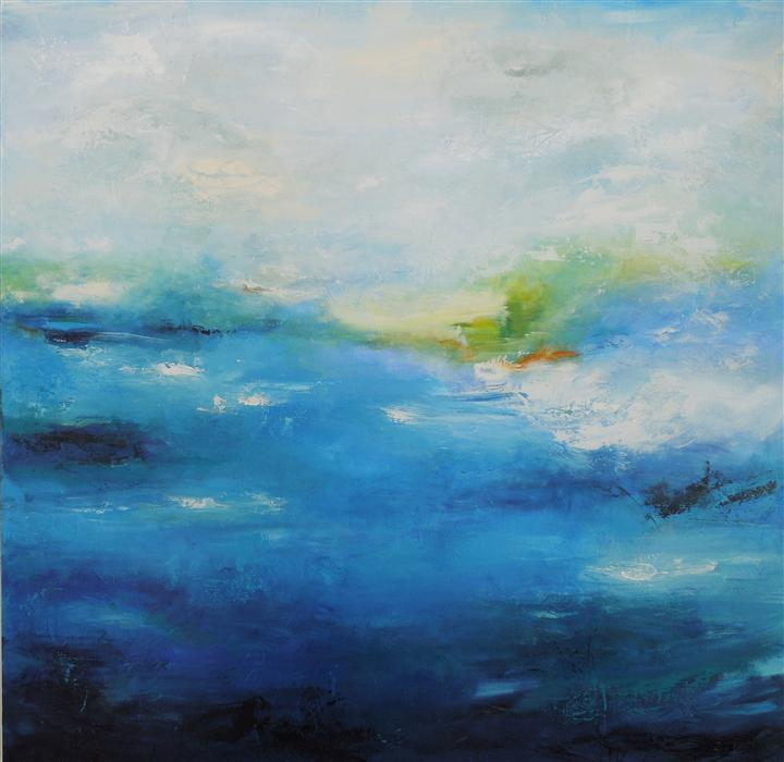 Discover Original Art by Hilma Koelman | Ocean Voyage acrylic painting | Art for Sale Online at UGallery