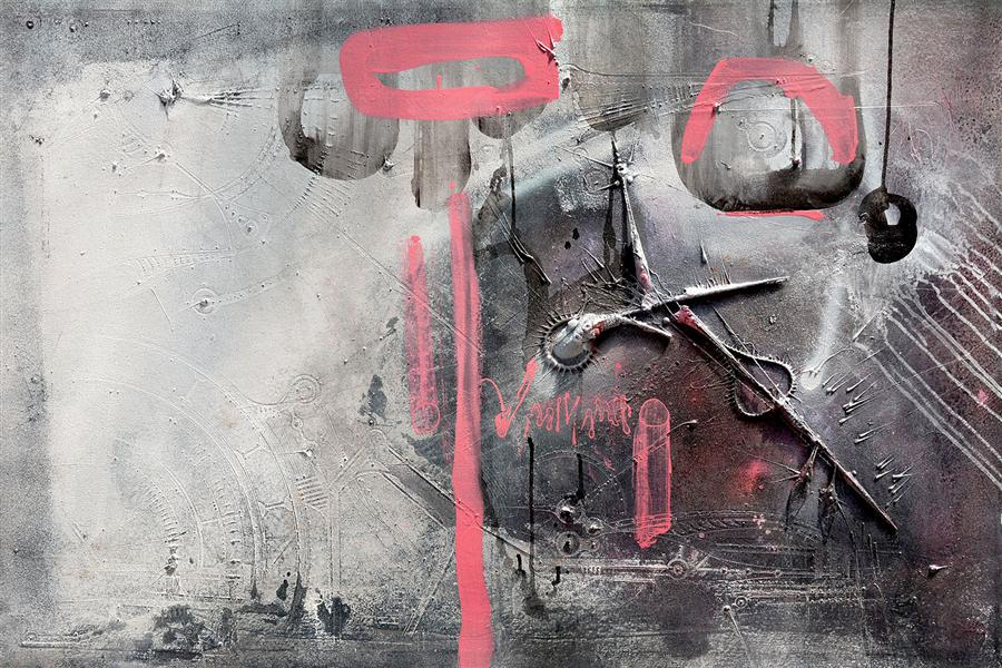Original art for sale at UGallery.com | Quality of Cipher by ADRIANO RIBEIRO | $1,325 | Mixed media artwork | 31' h x 47' w | http://www.ugallery.com/mixed-media-artwork-quality-of-cipher