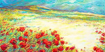 Discover Original Art by Iris Scott | Spring Snow oil painting | Art for Sale Online at UGallery