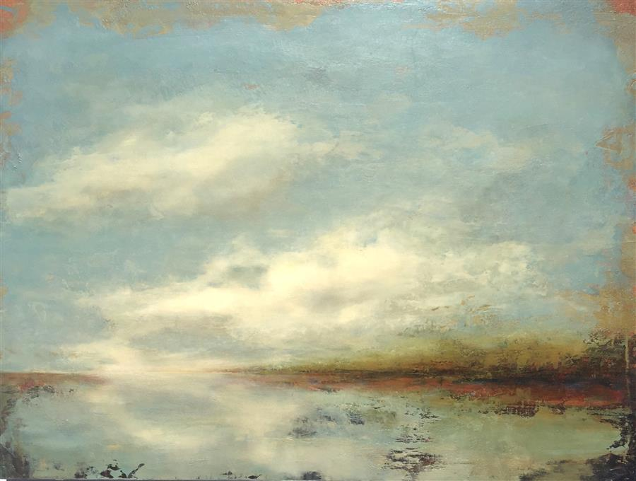 Original art for sale at UGallery.com | Cloudy with a Chance by FAITH TAYLOR | $2,175 | Oil painting | 30' h x 40' w | http://www.ugallery.com/oil-painting-cloudy-with-a-chance