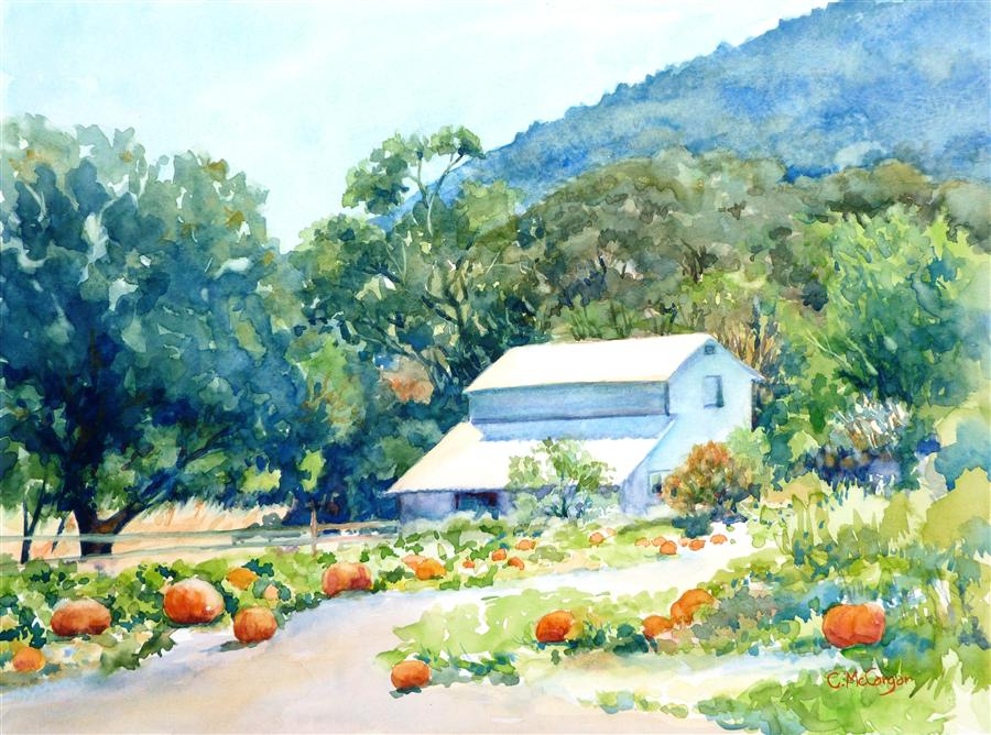 Discover Original Art by Catherine McCargar | Valley Harvest watercolor painting | Art for Sale Online at UGallery