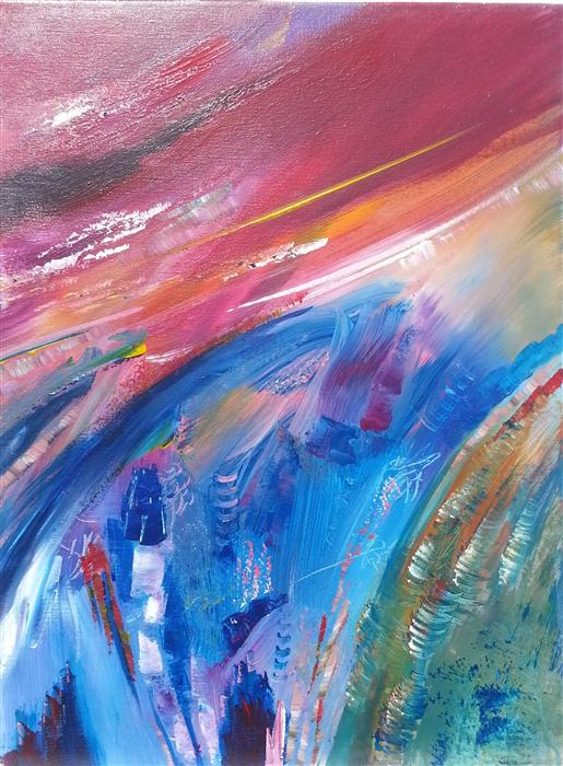 Discover Original Art by Robert Morrow | Aurora acrylic painting | Art for Sale Online at UGallery