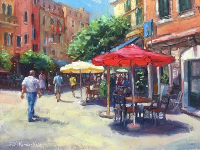 Discover Original Art by Faye Vander Veer | Summer in Vernazza oil painting | Art for Sale Online at UGallery
