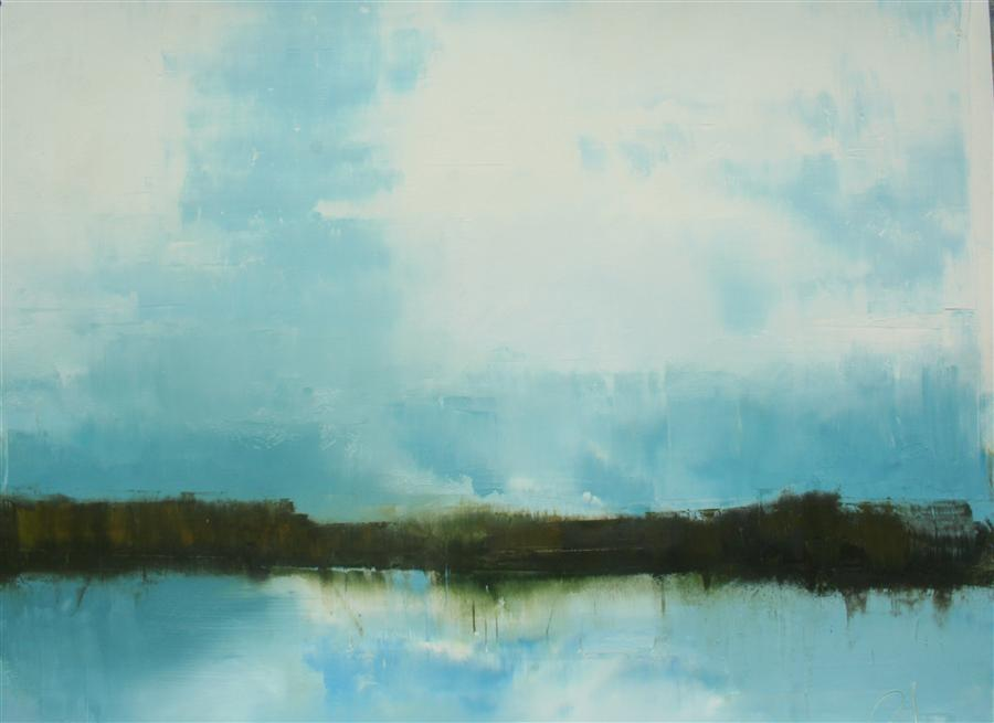 Original art for sale at UGallery.com | Along the Way by RONDA WAIKSNIS | $650 | Oil painting | 28' h x 33' w | http://www.ugallery.com/oil-painting-along-the-way-40318