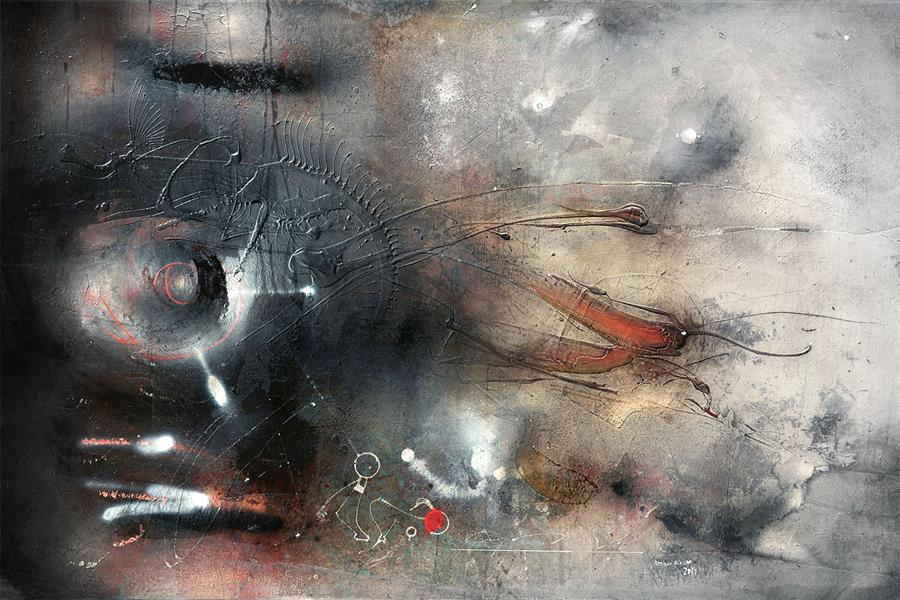 Original art for sale at UGallery.com | Lust-o-matic by ADRIANO RIBEIRO | $1,325 | Mixed media artwork | 31' h x 47' w | http://www.ugallery.com/mixed-media-artwork-lust-o-matic