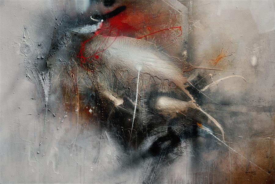 Original art for sale at UGallery.com | Fantasma by ADRIANO RIBEIRO | $1,325 | Mixed media artwork | 31' h x 47' w | http://www.ugallery.com/mixed-media-artwork-fantasma