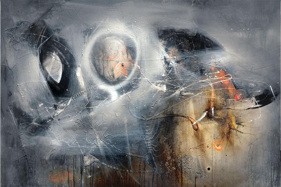 Original art for sale at UGallery.com | Above the Mist by ADRIANO RIBEIRO | $1,325 | Mixed media artwork | 31' h x 47' w | http://www.ugallery.com/mixed-media-artwork-above-the-mist