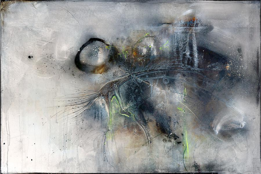Original art for sale at UGallery.com | D'aria Da by ADRIANO RIBEIRO | $1,325 | Mixed media artwork | 31' h x 47' w | http://www.ugallery.com/mixed-media-artwork-d-aria-da