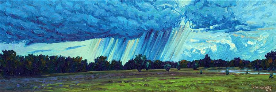 Discover Original Art by Mark Nesmith | Rain on the Horizon oil painting | Art for Sale Online at UGallery