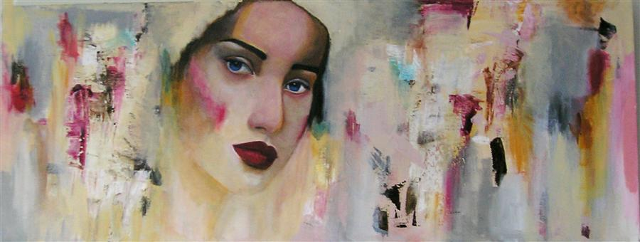 Original art for sale at UGallery.com | Wondering by HAYDEE TORRES | $1,325 | Acrylic painting | 12' h x 36' w | http://www.ugallery.com/acrylic-painting-wondering
