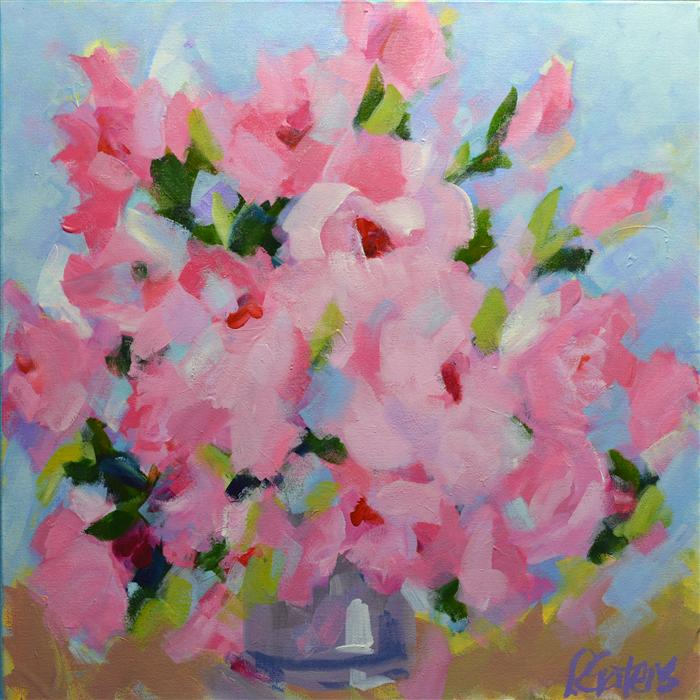 Discover Original Art by Pamela Gatens | Sweetheart Bouquet acrylic painting | Art for Sale Online at UGallery