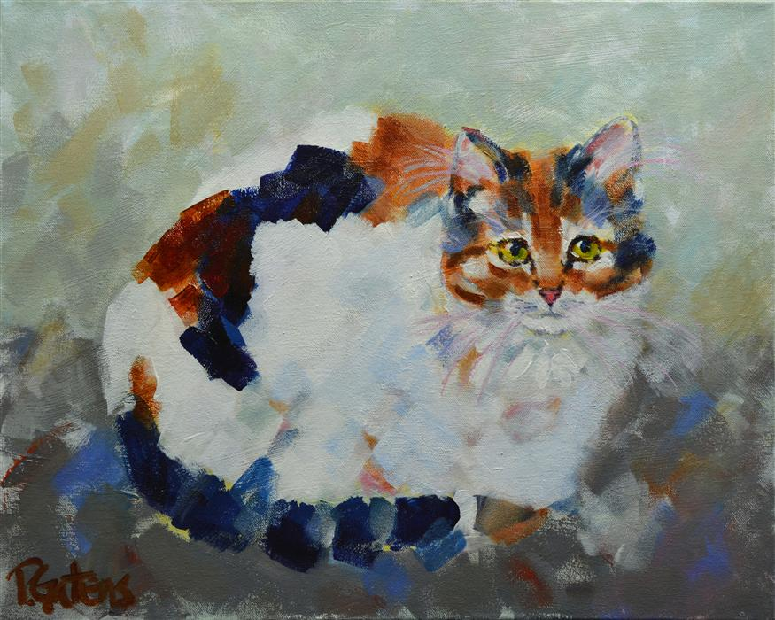 Original art for sale at UGallery.com | Patio Calico by PAMELA GATENS | $575 | Acrylic painting | 16' h x 20' w | http://www.ugallery.com/acrylic-painting-patio-calico