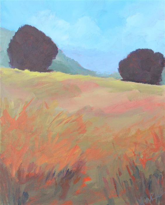 Discover Original Art by Nancy Merkle | Top of the Hill acrylic painting | Art for Sale Online at UGallery