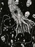 Expressionism art,Surrealism art,Street Art art,Representational art,ink artwork,Nightmare Squid