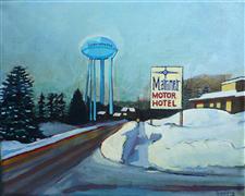 Travel art,Representational art,Vintage art,acrylic painting,The Mariner
