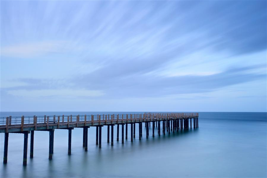Original art for sale at UGallery.com | Dusk on the Pier II by KATHERINE GENDREAU | $195 |  | ' h x ' w | http://www.ugallery.com/photography-dusk-on-the-pier-ii