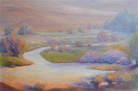 Impressionism art,Landscape art,Representational art,oil painting,Mystic Roads