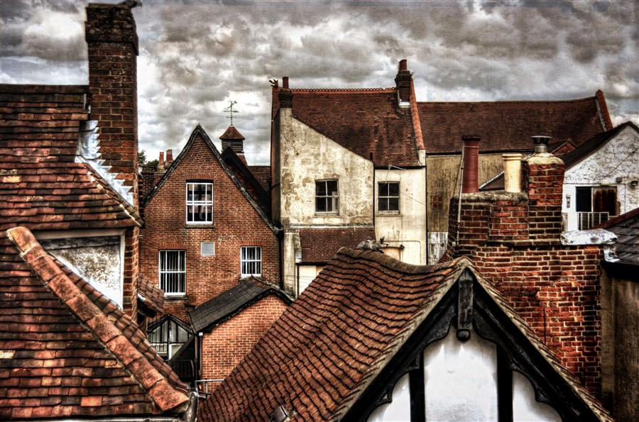 Discover Original Art by Noelle Visconti | Old Time Rooftops photography | Art for Sale Online at UGallery