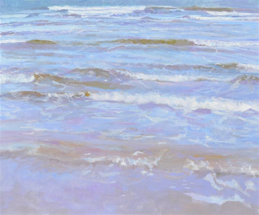 Original art for sale at UGallery.com | Gentle Wave by RANDI JANE DAVIS | $2,350 | Oil painting | 30' h x 36' w | http://www.ugallery.com/oil-painting-gentle-wave