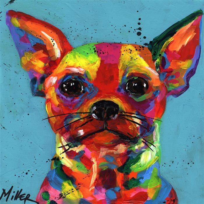 Discover Original Art by Tracy Miller | Aye Chihuahua acrylic painting | Art for Sale Online at UGallery