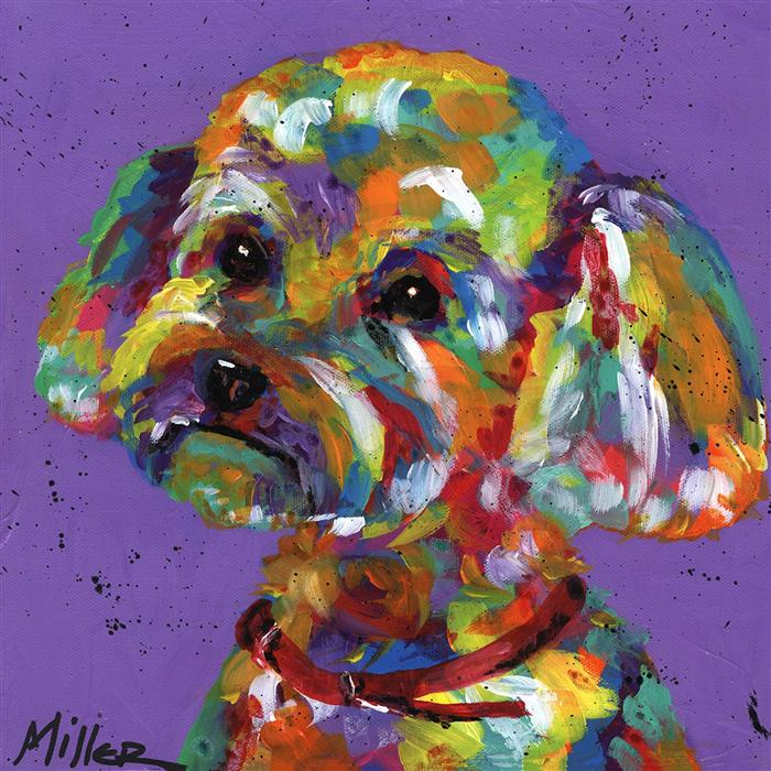 Discover Original Art by Tracy Miller | Posh Poodle acrylic painting | Art for Sale Online at UGallery