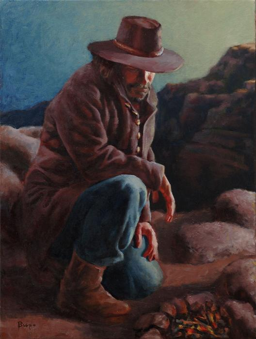 Original art for sale at UGallery.com | Arizona Sunrise by LOUIS BISPO | $1,175 | Oil painting | 24' h x 18' w | http://www.ugallery.com/oil-painting-arizona-sunrise