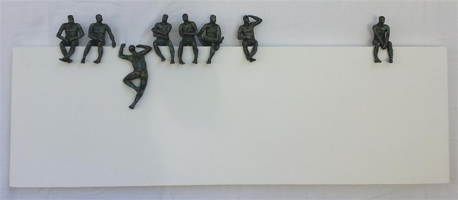 Original art for sale at UGallery.com | U-29 Big Border Line by YELITZA DIAZ | $3,275 | Sculpture | 20' h x 48' w | http://www.ugallery.com/sculpture-u-29-big-border-line