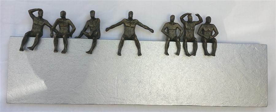 Original art for sale at UGallery.com | U-30 Borderline by YELITZA DIAZ | $2,175 | Sculpture | 13' h x 35' w | http://www.ugallery.com/sculpture-u-30-borderline