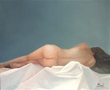 Nudes art,Classical art,Representational art,oil painting,Reflections