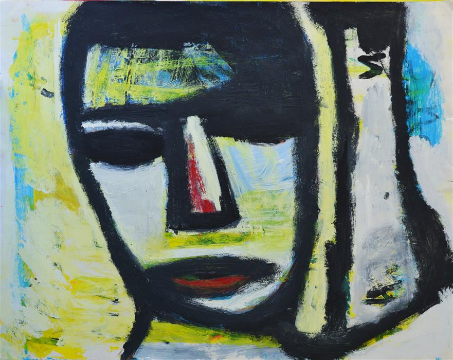 Discover Original Art by  Desirée Maldonado | The Mysterious Woman acrylic painting | Art for Sale Online at UGallery