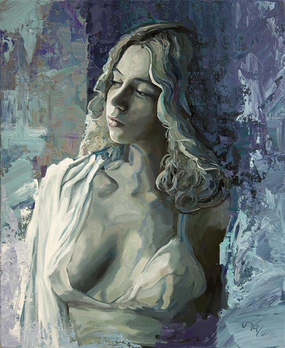 Original art for sale at UGallery.com | Portrait of Adalind by SETH COUTURE | $525 | Acrylic painting | 20' h x 16' w | http://www.ugallery.com/acrylic-painting-portrait-of-adalind