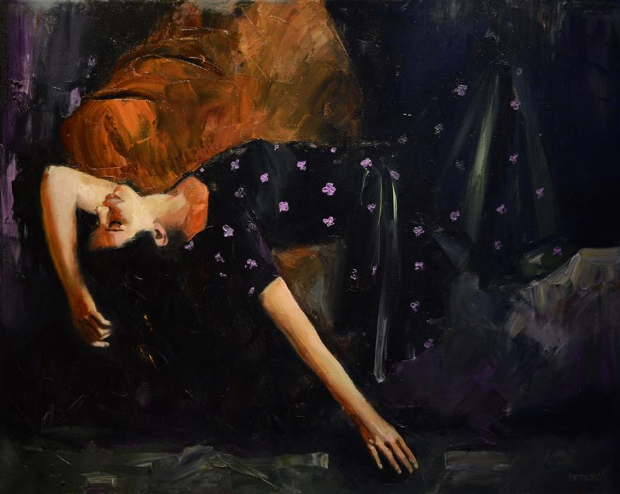 Original art for sale at UGallery.com | Evening Dreams by GARY LEONARD | $2,200 | Oil painting | 24' h x 30' w | http://www.ugallery.com/oil-painting-evening-dreams