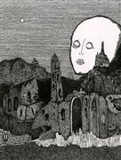 Architecture art,Surrealism art,Representational art,ink artwork,Plagued