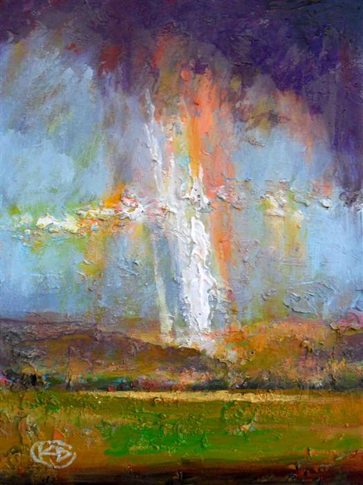 Discover Original Art by Kip Decker | Valley Showers acrylic painting | Art for Sale Online at UGallery