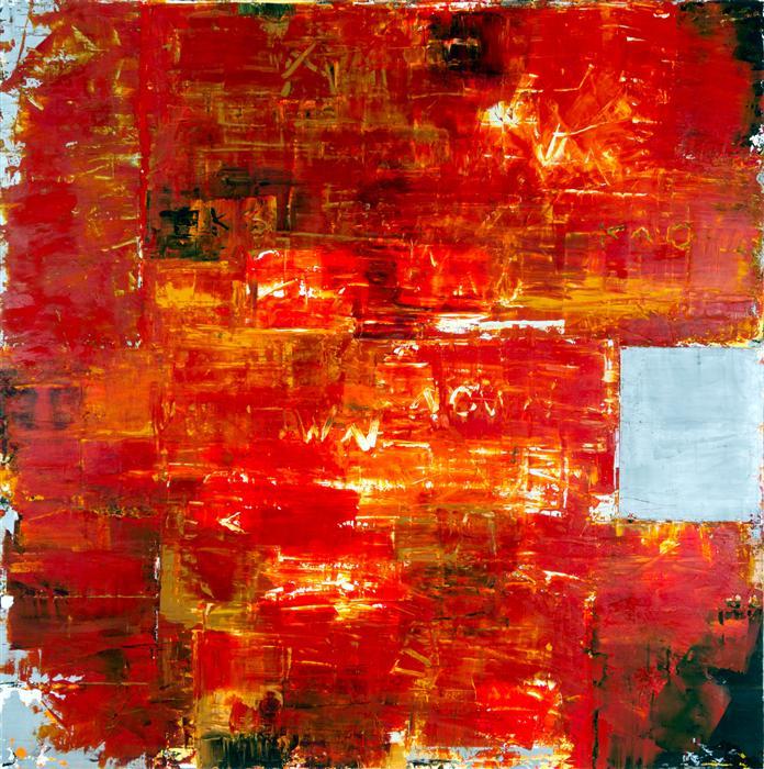 Discover Original Art by Jim Black | Orange Sequence encaustic artwork | Art for Sale Online at UGallery