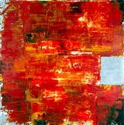 Abstract art,Expressionism art,Non-representational art,encaustic artwork,Orange Sequence