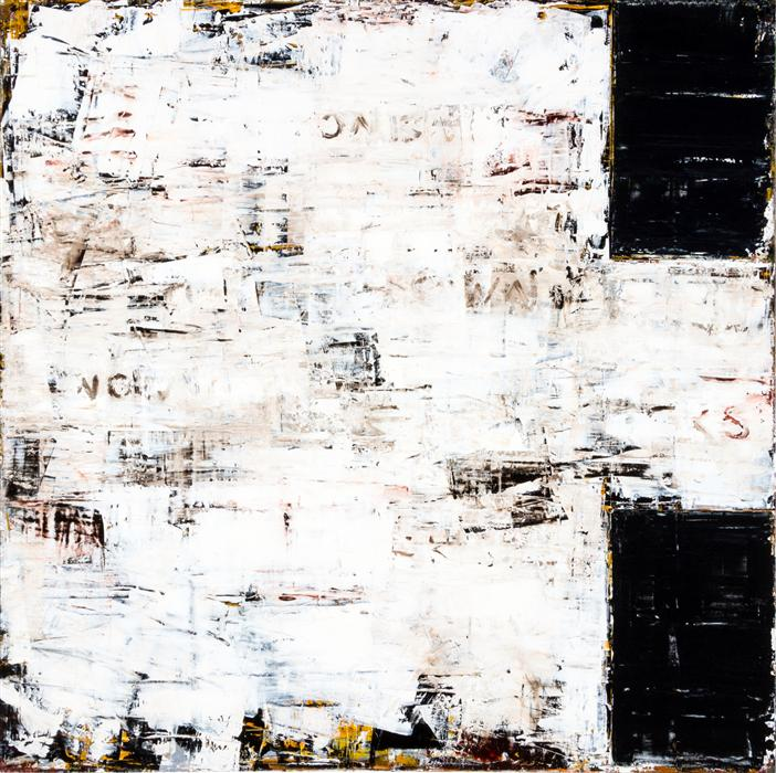 Original art for sale at UGallery.com | Broken Sequence by JIM BLACK | $4,475 | Encaustic artwork | 48' h x 48' w | http://www.ugallery.com/encaustic-artwork-broken-sequence