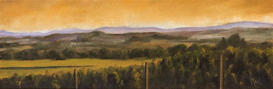 Discover Original Art by Mandy Main   Vineyard XVII oil painting   Art for Sale Online at UGallery