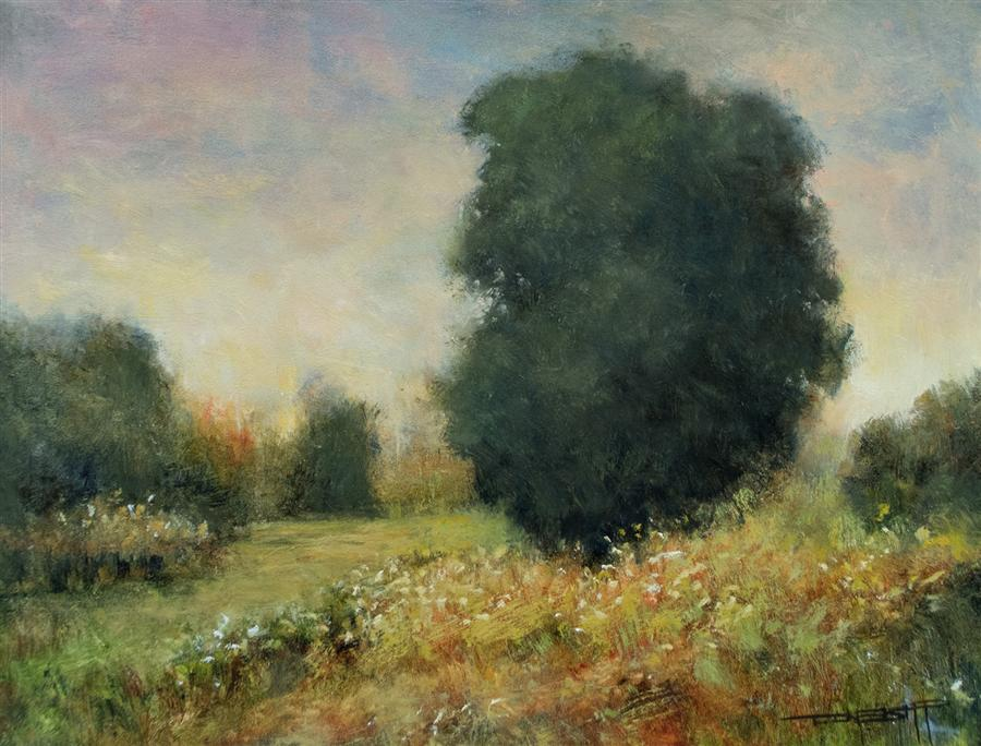 Discover Original Art by Don Bishop | Meadow Light oil painting | Art for Sale Online at UGallery