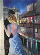 Impressionism art,People art,Travel art,Representational art,acrylic painting,Tango Passion