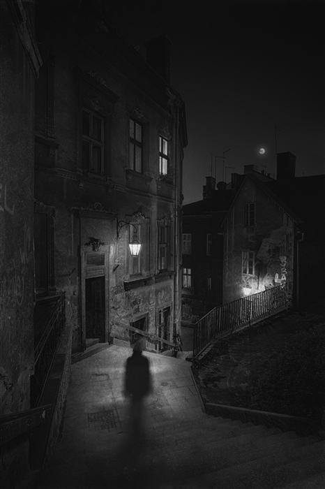 Discover Original Art by Rafal  Kijas | Bielsko Biala – Night photography | Art for Sale Online at UGallery