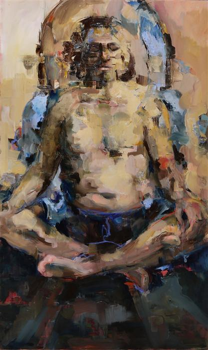 Discover Original Art by Michele Giulvezan-Tanner | Buddha Within oil painting | Art for Sale Online at UGallery
