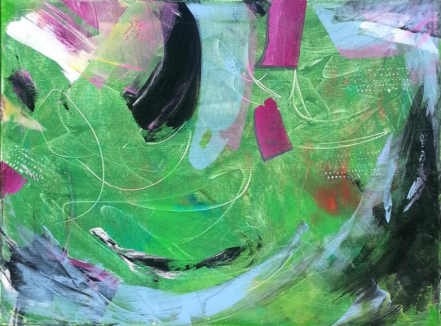 Discover Original Art by Robert Morrow | Orbit acrylic painting | Art for Sale Online at UGallery