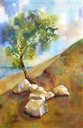 Impressionism art,Landscape art,Nature art,Representational art,watercolor painting,Peace