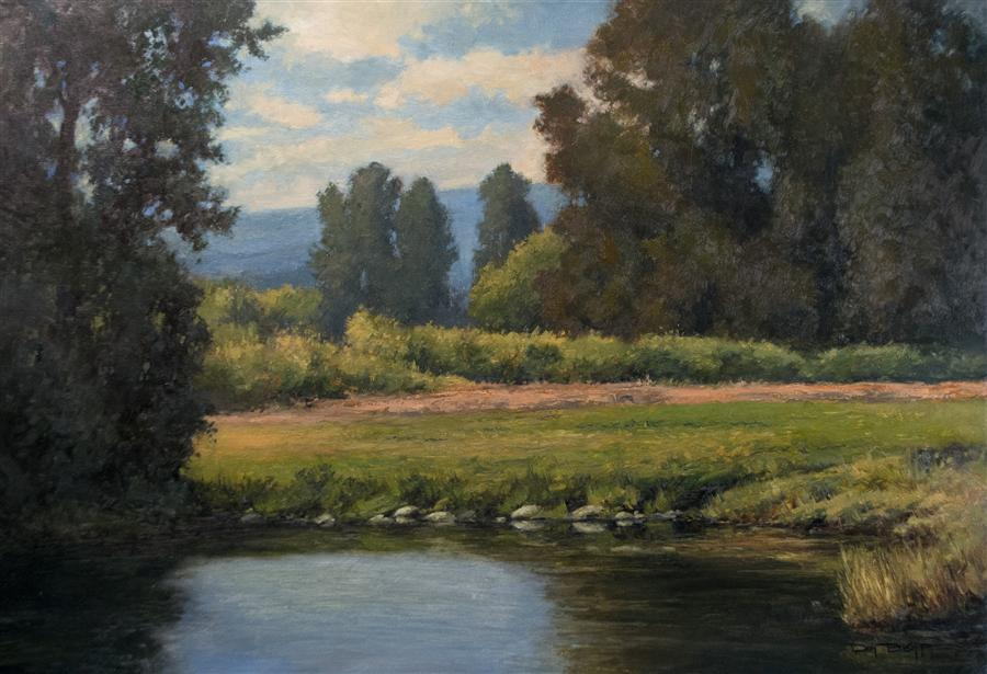 Original art for sale at UGallery.com | The Warm Season by DON BISHOP | $1,725 | Oil painting | 24' h x 36' w | http://www.ugallery.com/oil-painting-the-warm-season